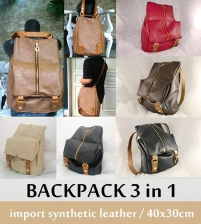 LEATHER SCHOOL BACKPACK - TAS RANSEL KULIT KLASIK - KOREAN STYLE - HIGH  QUALITY 78753c9191