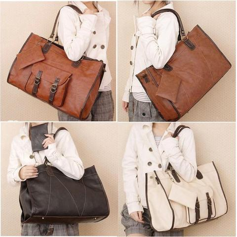 TAS FASHION WOMEN RETRO LARGE - LEATHER - KOREAN STYLE – HIGH QUALITY f2fe05ee1b