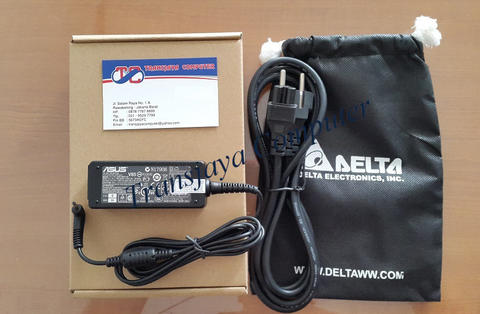 Adaptor Charger Asus 19V 2.1A Colokan Kecil Original + Kabel Power (Garansi 12 Bulan)