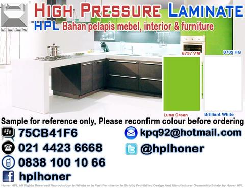 Kitchen Set Solid Colour Core | HPM | MFB | HPL | Edging | Lem | Dapur Set Interior