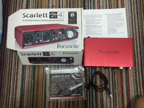 JUAL SOUNDCARD USB / AUDIO INTERFACE MIDI FOCUSRITE SCARLETT 2i4 BANDUNG