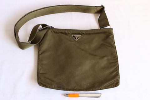 c05d190441fb Jual Tas branded PRADA Green nylon sling bag P78 Second original ...