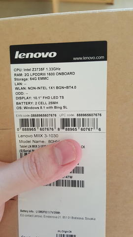 Lenovo Miix 3 Business Set Edition
