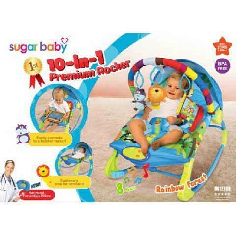 Bouncer Sugar Baby Premium Rocker Rainbow Forest