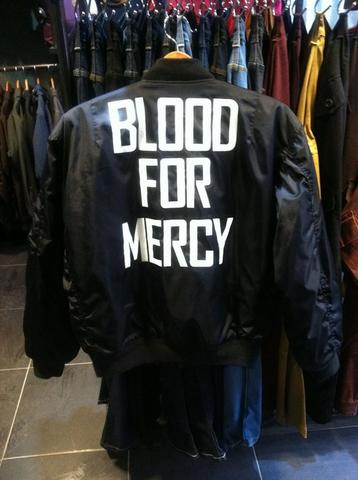 JUAL JACKET BOMBER YELLOW CLAW BLOOD FOR MERCY CUSTOM ALPHA