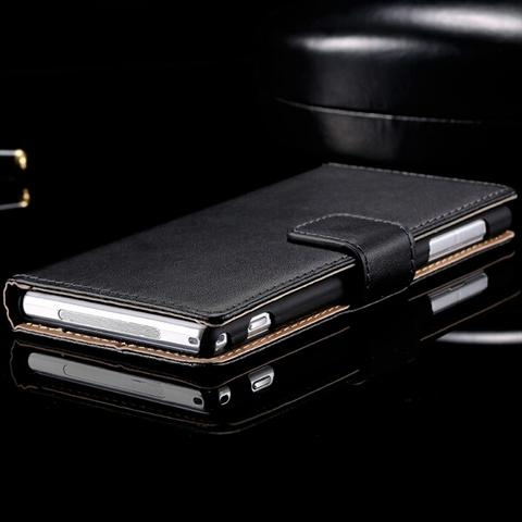 HOT ITEM : LEATHER CASE FOR SONY XPERIA Z1 (PREMIUM QUALITY)