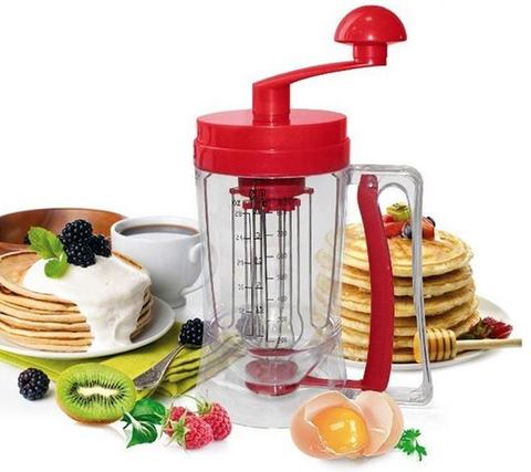 Manual Pancake Machine Cake Batter Mix & Dispenser With Measuring Label