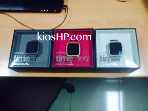 Jual Pebble time steel, time round