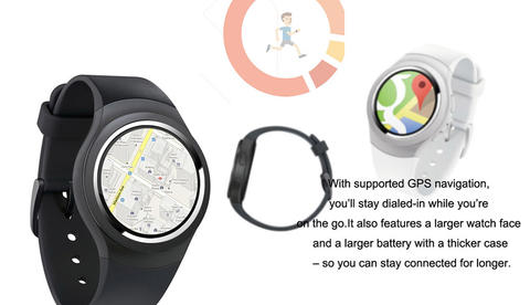 (PRE ORDER) K9 3G Android SmartWatch- Black