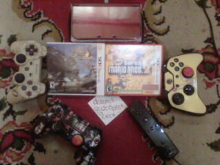 cartridge 3ds monster hunter 4 & new super mario bros 2