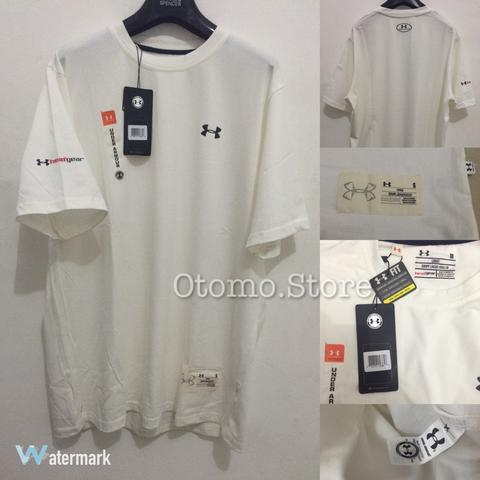 Terjual Kaos Under Armour - HeatGear White Tee Original  e713ad5181