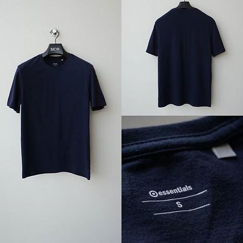 Terjual Kaos Essentials - Navy Blue Basic Tee Original  878bc4d0bf