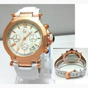 Jam Gucci Chrono Aktif Leather White
