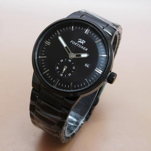 Jam Tangan Pria / Cowok Fortuner FR510 Original Anti Air Waterproof Rantai Full Black