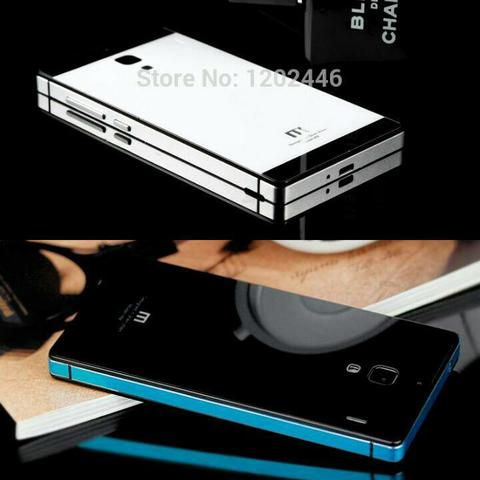 JUAL Aluminium Casing / Back Hard Case Cover Tempered Glass Xiaomi Redmi 2