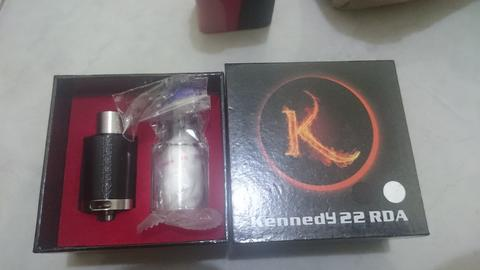 RDA kennedy 22 black like new bisa sepaket siap ngebul