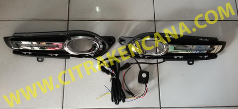 PROMO DRL LED COVER FOGLAMP CHROME HONDA HRV