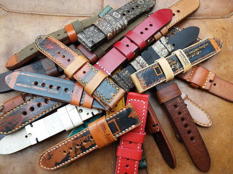 (PART 44) Leather Strap Vintage uk 20/22/24mm.