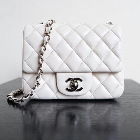 Jual JUAL TAS CHANEL MINI FLAP 17CM LAMBSKIN WHITE MIRROR QUALITY ... 47330ce096