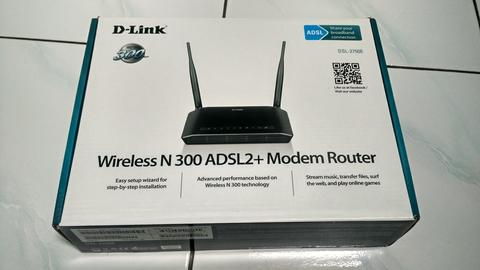 D-LINK Wireless N 300 ADSL2+ 4-Port Wi-Fi Router [DSL