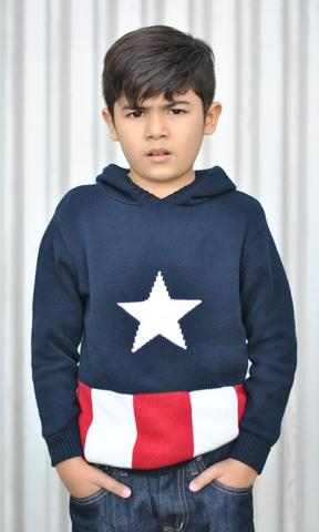 Captain America kids knit sweater