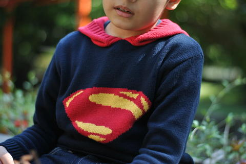 Superman kids knit sweater