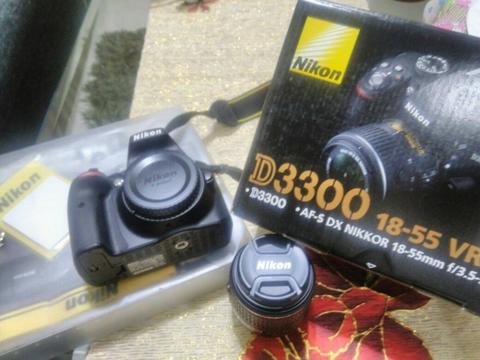 Kamera DSLR Nikon D3300 2nd Like New Lengkap + Lensa