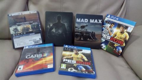 Jual Murah BD PS4 Mad Max steelcase , Project cars steelcase , Pes 2016