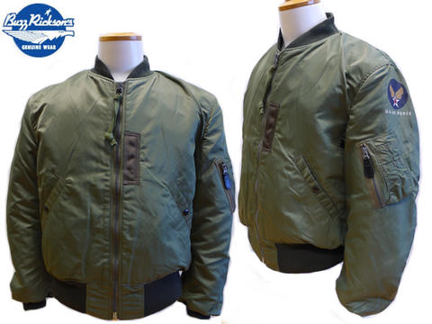 BUZZ RICKSON's Ma-1 flight jacket (alpha, nudie, red wing)