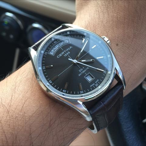 Certina DS-1 Automatic Day-Date Black Dial
