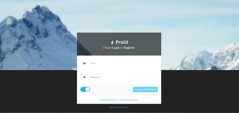 Jual Bootstrap Template ProUI Backend dan Frontend (PHP,&HTML) Murah