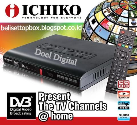 Set Top Box DVB-T2 Ichiko- TV Digital dan Multimedia Player-Garansi Resmi 1 Tahun