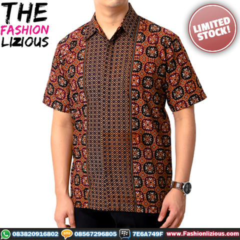 Kemeja Batik Brown Coffee B61