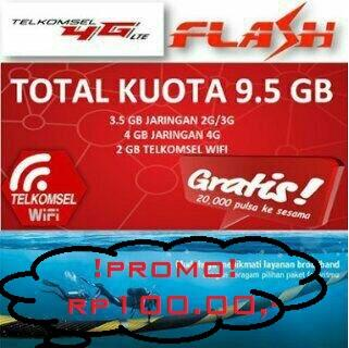 Kuota Inject Telkomsel 9,5 GB dan 4,2 GB