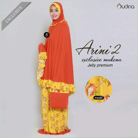 Mukena Jelly Premium Arini 2 Orange Kemerahan