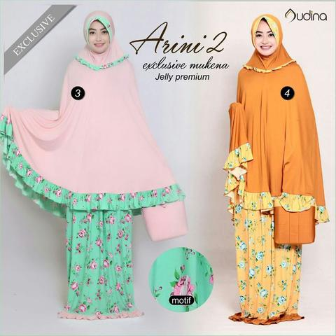 Mukena Jelly Premium Arini 2 Pink dan Orange