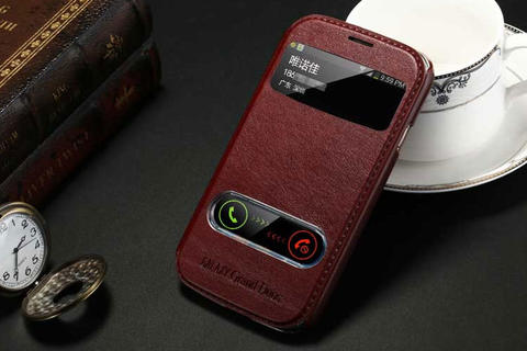 Samsung Galaxy Grand Duos Leather Flip Case Flipcase Cover Flipcover