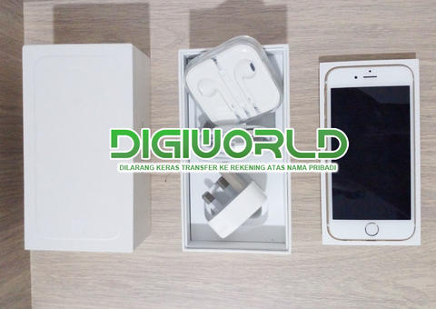 Second IPHONE 6 128GB Gold kondisi LIKE NEW