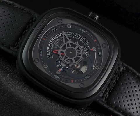 SEVENFRIDAY P3-1 Black-Red Hobijam Original