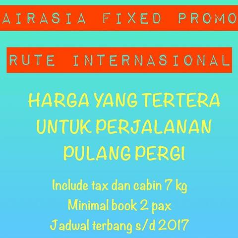 TIKET AIRASIA FIXED PROMO