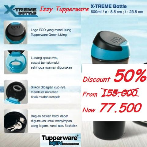 Tupperware X-treme Bottle 600ml 50% OFF RAMADHAN SALE