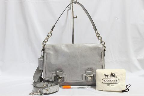 Tas branded COACH C201 Shoulder sling bag with DB second bekas original asli e65276bdce