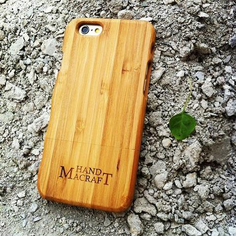 100% bambu bamboo Case with grasp for iPhone 6/6s and iPhone 6/6s plus