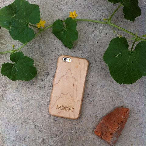 100% wood kayu maple Case with grasp for iPhone 6/6s and iPhone 6/6s plus