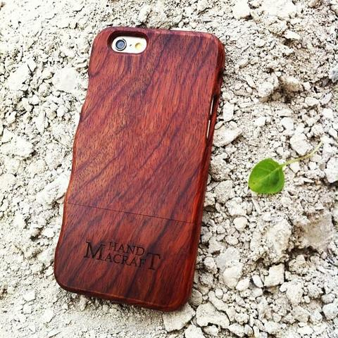 100% wood kayu Walnut Case with grasp for iPhone 6/6s and iPhone 6/6s plus