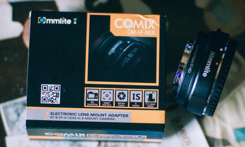 WTS Adapter Auto Fokus Commlite EF to NEX E-mount
