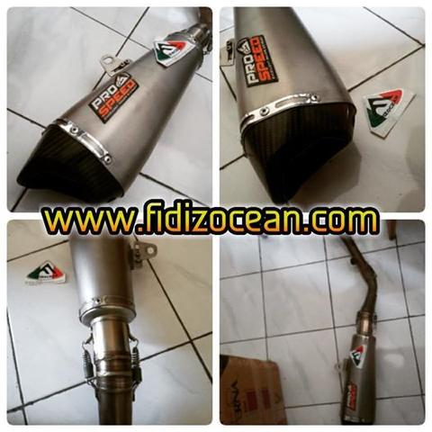 Knalpot 2nd condition prospeed shark silver ninja 250fi - 300 fi 2,2jr