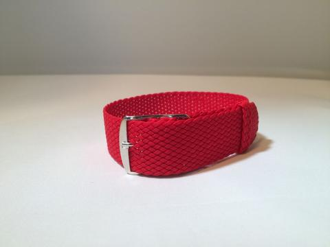 Perlon Strap 22 mm (limited stock) - Black, Blue, Red, and Brown