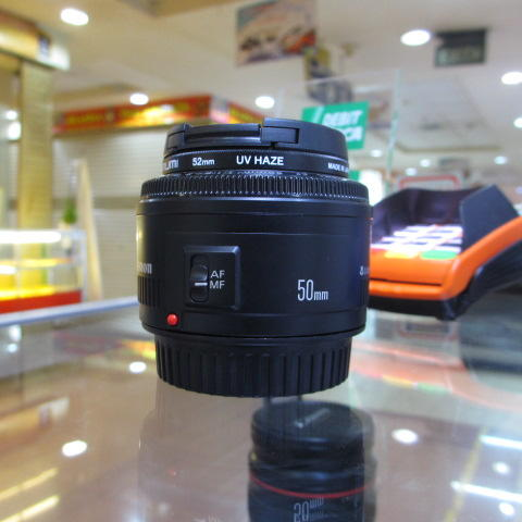 CANON EF 50MM F/1.8 II - EX DS - LIKE NEW + BONUS FILTER - LENGKAP BOX