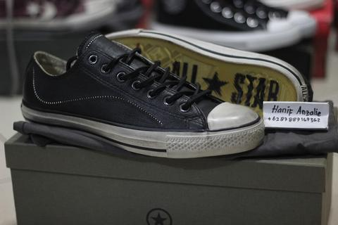 Converse John Varvatos Ball and Chain Black Leather Ox